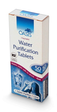 Oasis Water Purification Tablets Box