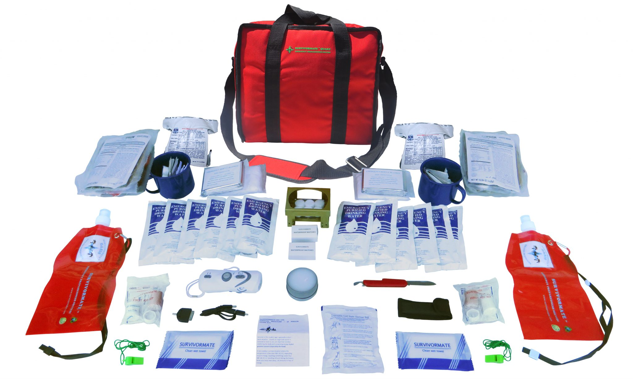 Survivormate Quake 4-Person Deluxe Kit