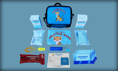 Survivormate Critter Kids Kit - Blue