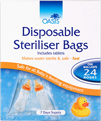 Oasis Cold Water Sterilisation Bags