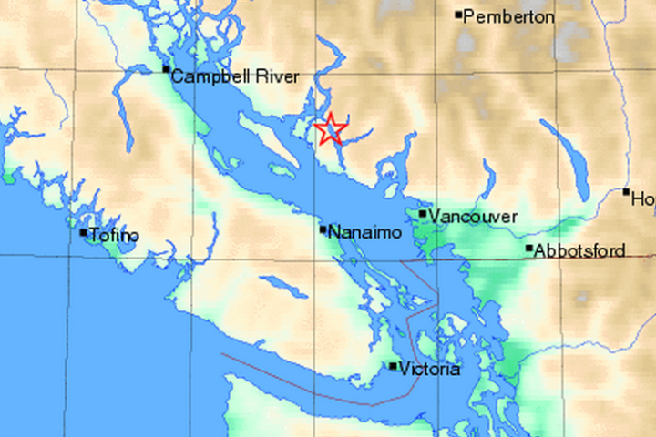February 14, 2015 Earthquake-epicenter near Vancouver, BC